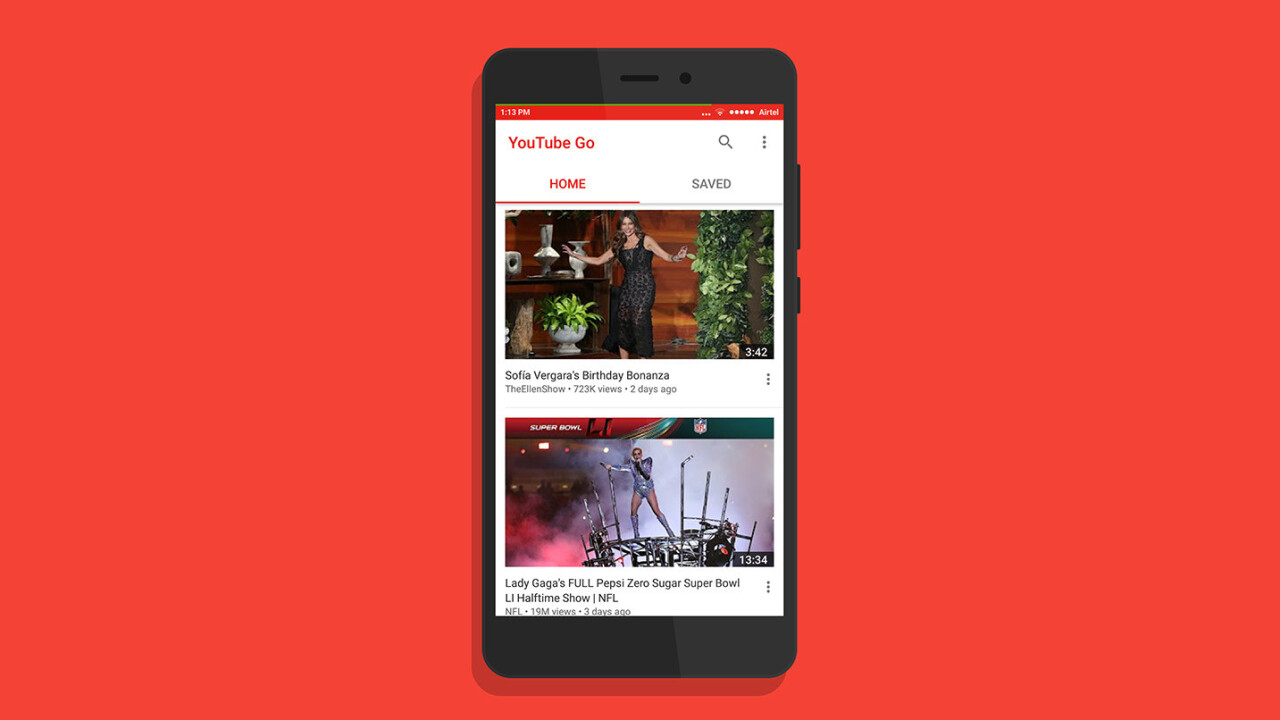 YouTube's Go app for data-conscious viewers is now available on Android