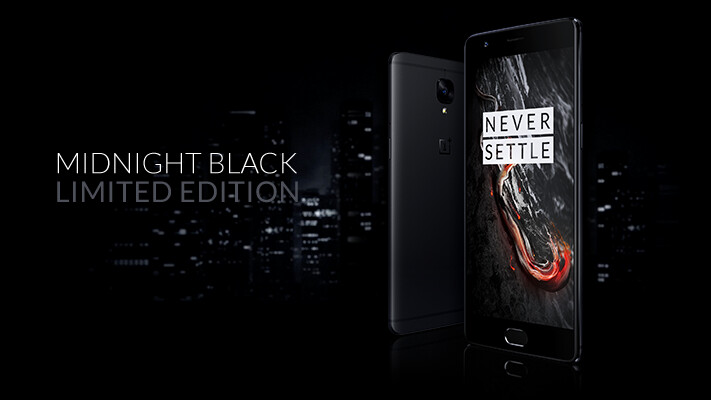 OnePlus 3T now comes in a stealthy Midnight Black color option
