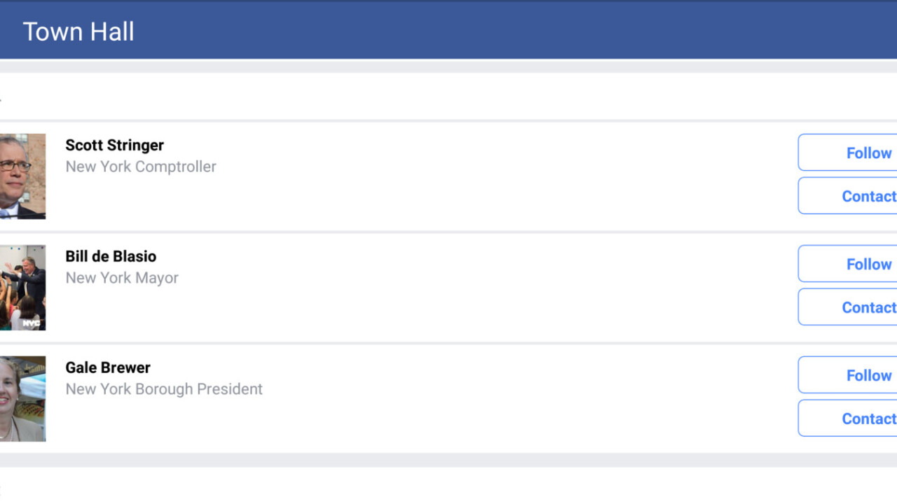 Facebook launches Town Hall feature to help you contact local government officials