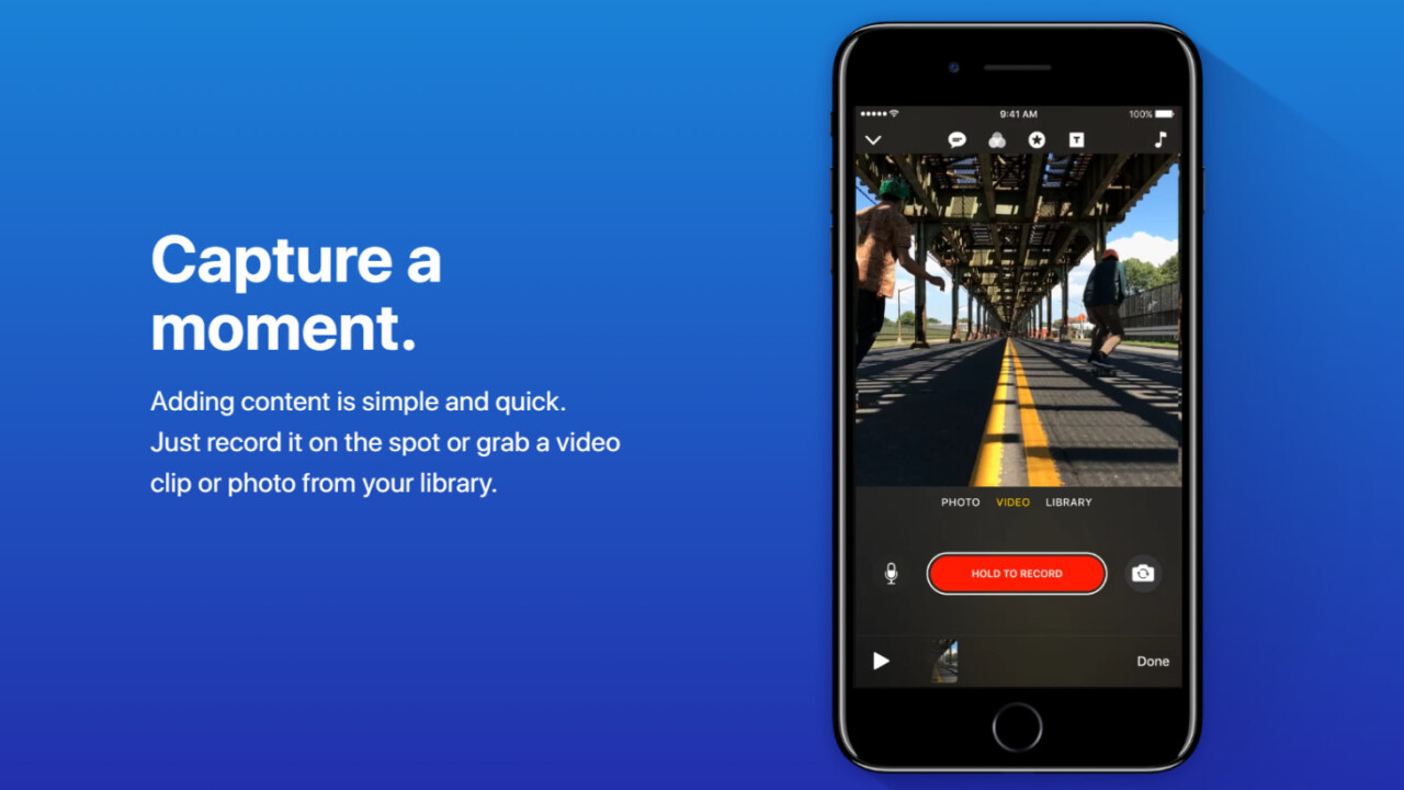 Apple's new video sharing app is called Clips