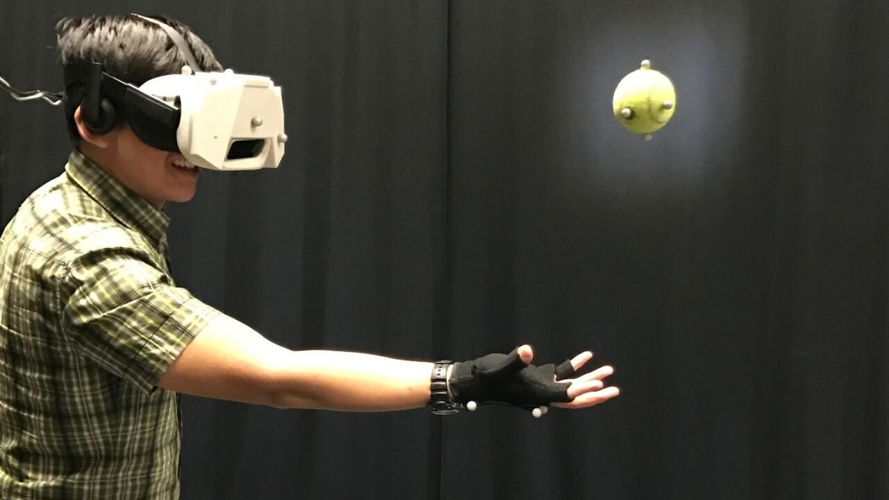 VR motion tracking narrows the gap between real and digital