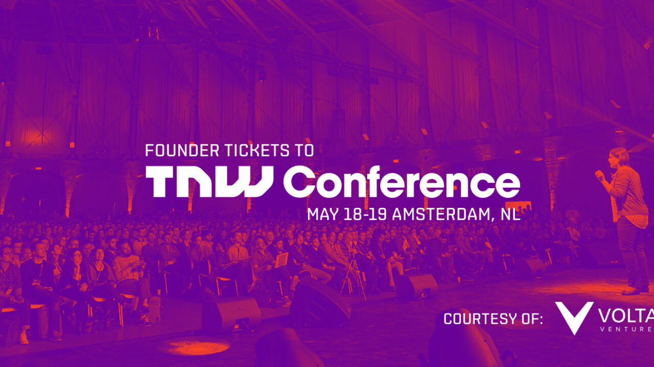 Attention Founders: Volta Ventures wants 10 Dutch and Belgian entrepreneurs to join them at TNW Conference