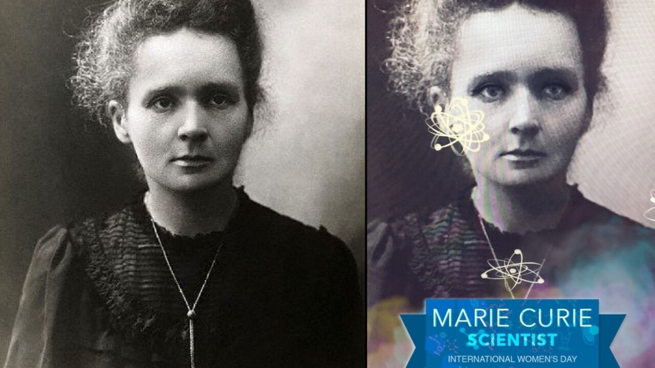Snapchat fumbles Marie Curie tribute on International Women's Day
