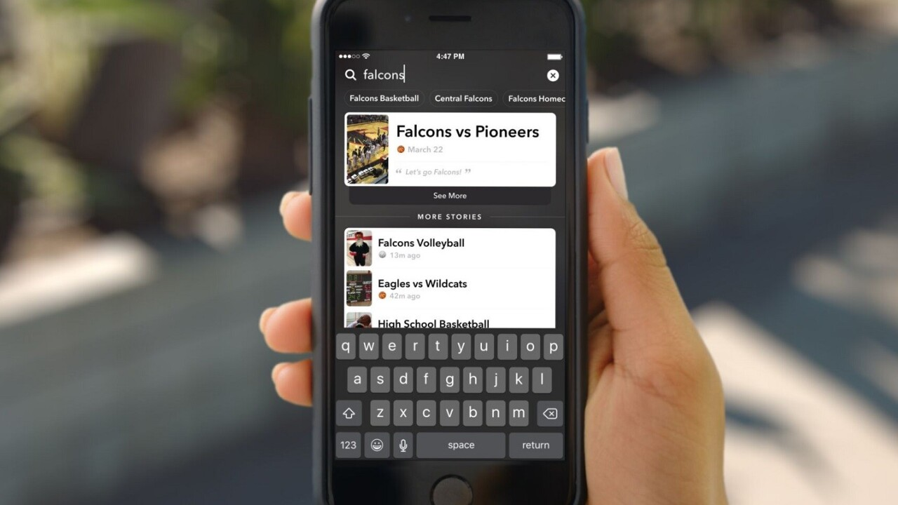Snapchat launches Stories search and Facebook hasn't copied it yet