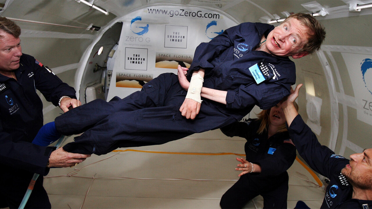 Stephen Hawking is going to space