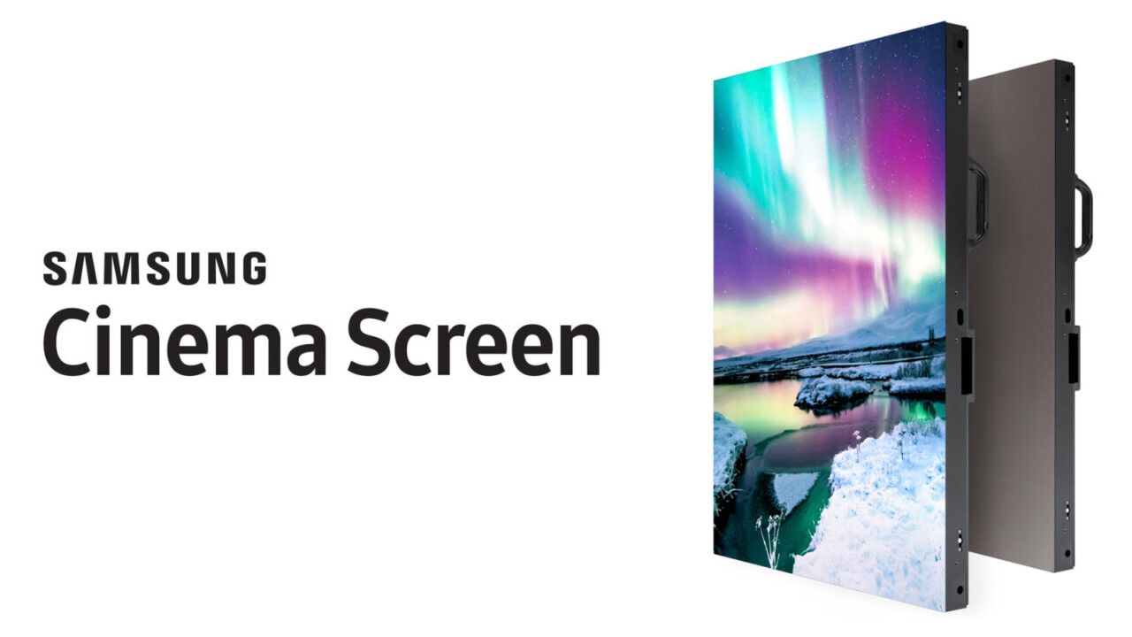 Samsung unveils new cinema theater screen with support for HDR and 4K