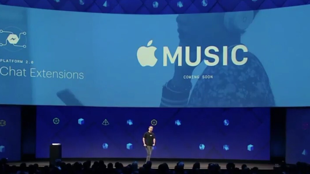 Facebook is baking in Spotify and Apple Music right into Messenger