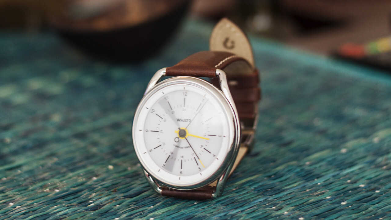 This minimalist smartwatch only reminds you of appointments – and that's just perfect