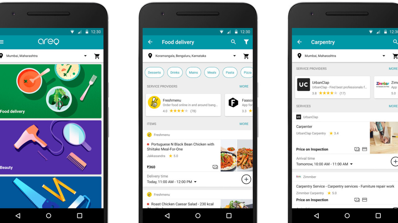 Google's new app lets you order food and call a plumber in India