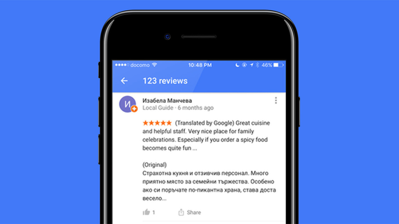 Google helps travelers find the best spots with auto-translated local reviews