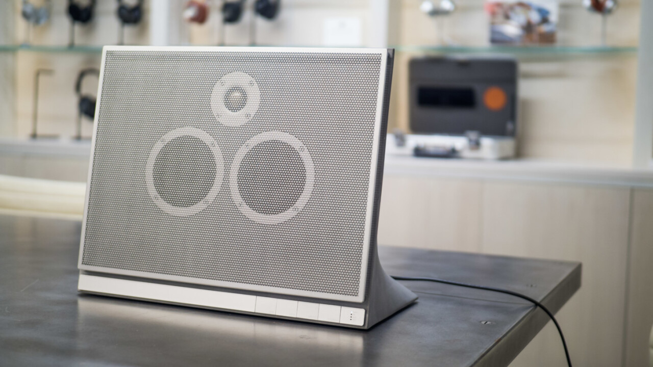 Master & Dynamic's first wireless speaker is literally a (gorgeous) block of concrete