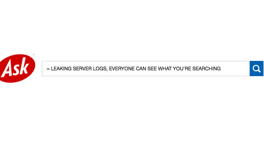 Ask.com was leaking server logs and everyone could see what you searched [Update]