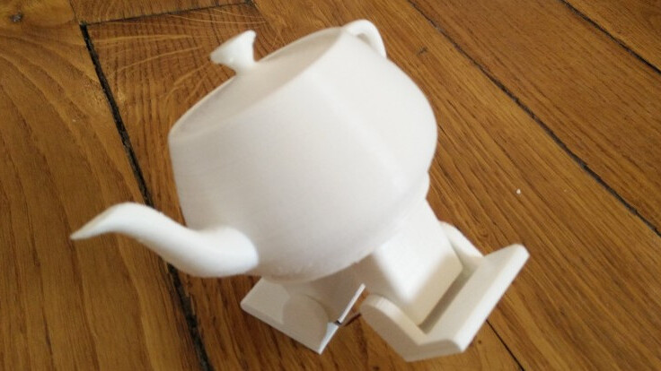 This cute dancing robot is actually a 3D-printed teapot hooked to an Arduino