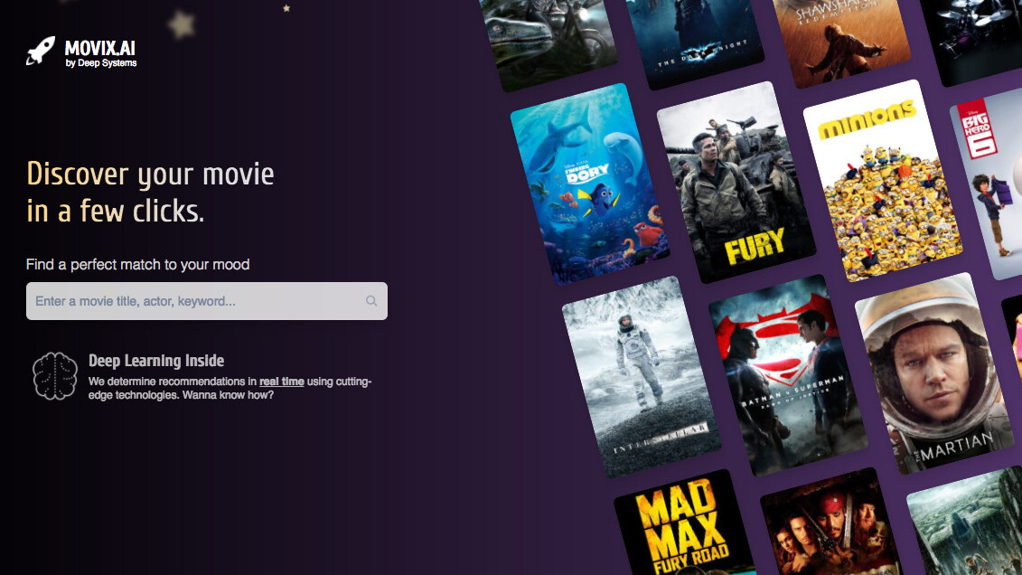 Movix uses artificial intelligence to hit you with the best movie suggestions