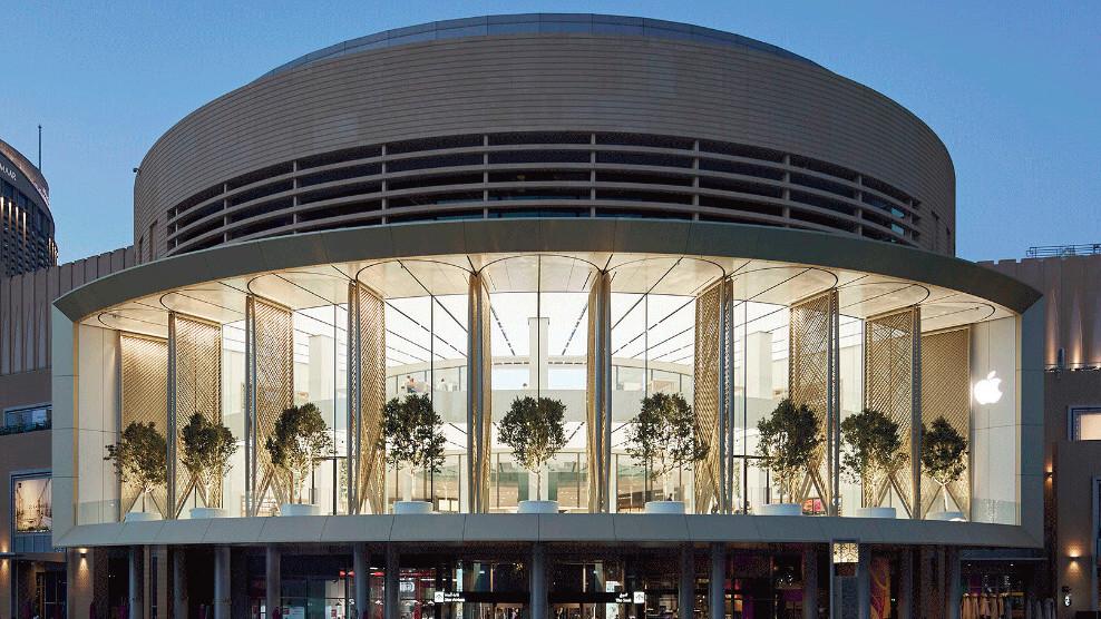 Apple's new 'Dubai Mall' has massive motorized solar wings