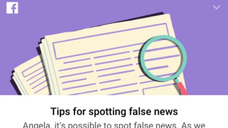 Facebook creates 10 commandments for spotting fake news