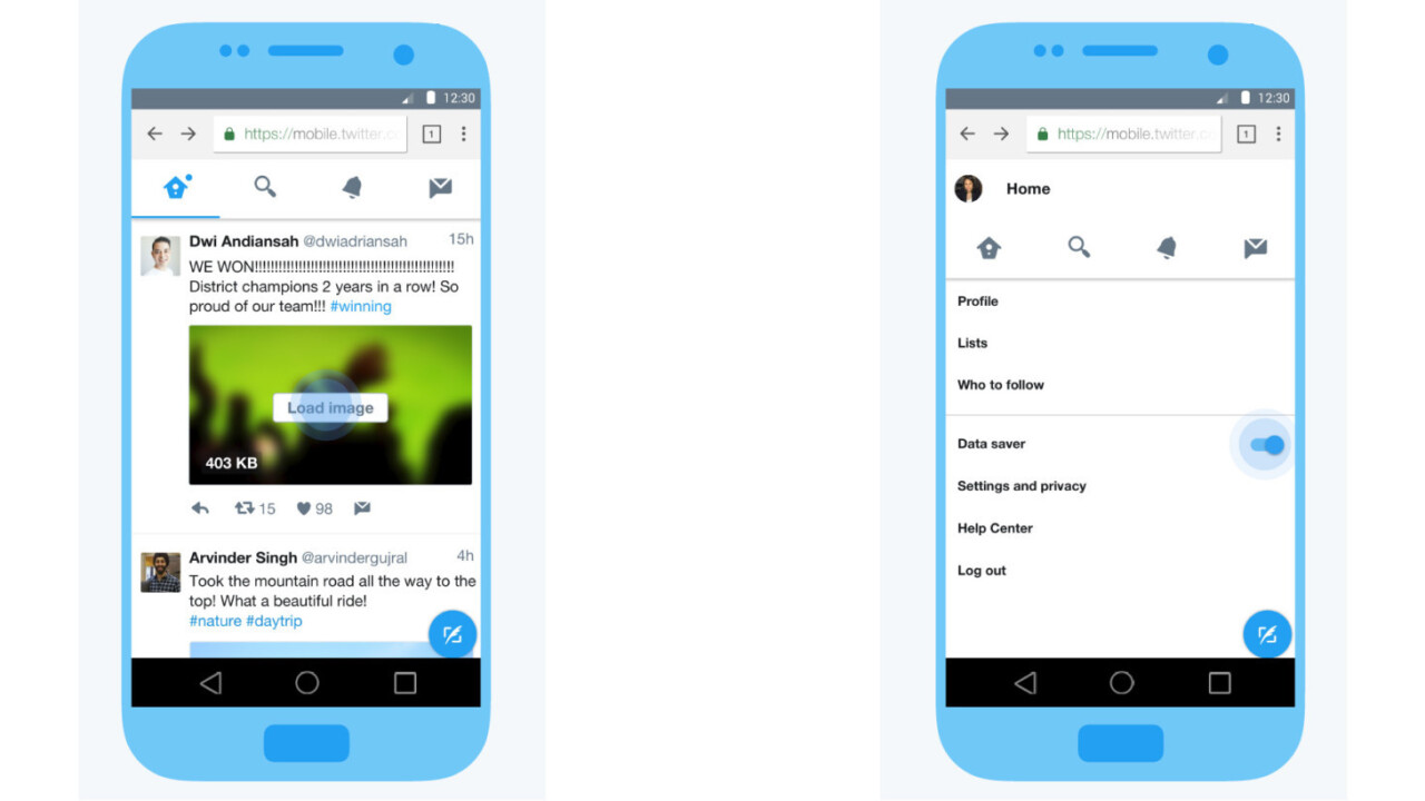 Twitter's new Lite app loads quickly and saves data on slow connections