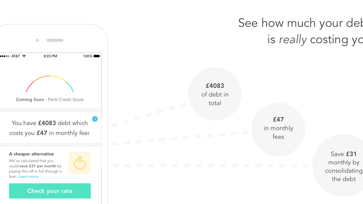 Pariti wants to show Brits how much their debt really costs them