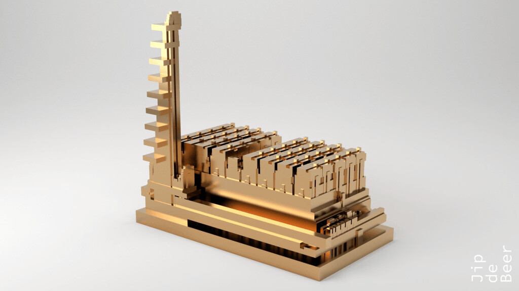 This artist prints unique gold sculptures of the websites we all use