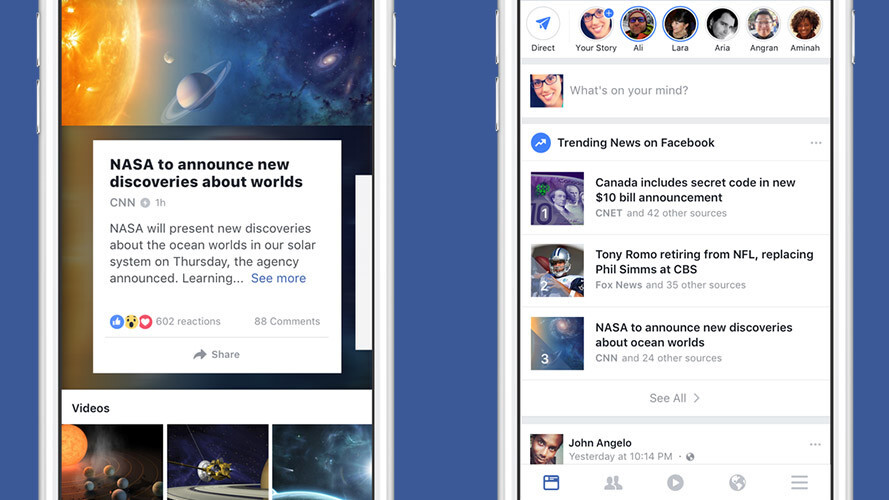 Facebook redesigns Trending topics to make news easier to find