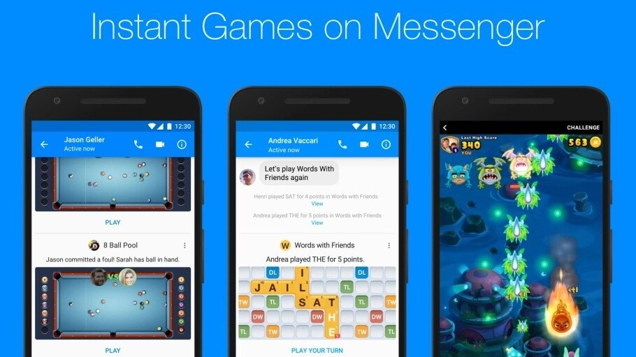Facebook no longer takes a cut of Messenger games on Android