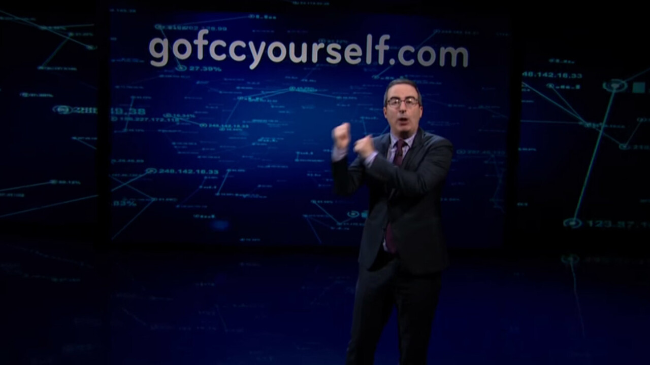 DDoS attackers on FCC are hurting John Oliver's net neutrality campaign