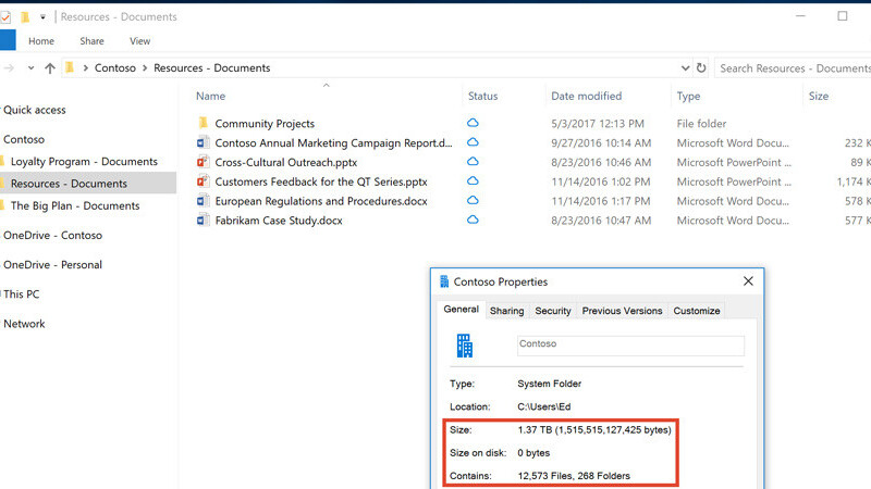 Microsoft OneDrive will beam your files to Windows 10 on demand starting this fall