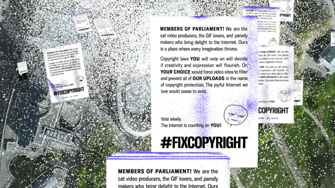 Mozilla floods EU officials with digital leaflets to fight nonsensical copyright laws