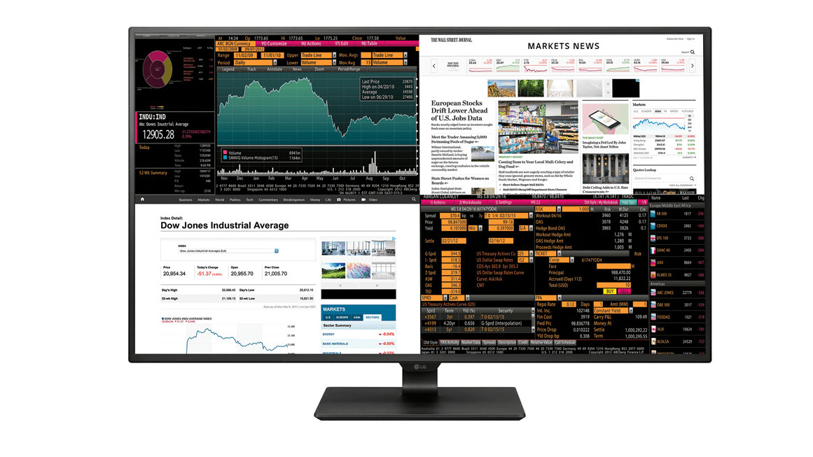 LG unveils 42.5-inch monitor that squeezes four displays in one huge panel