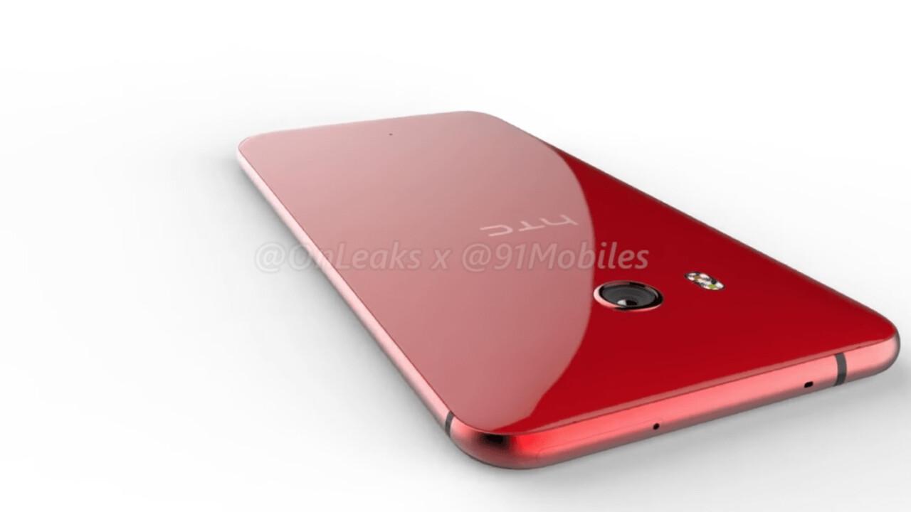 Red HTC U 11 surfaces in leaked virtual render