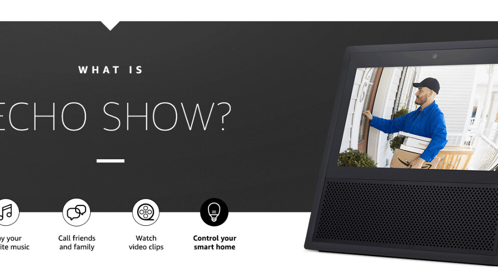 Amazon officially unveils its screen-equipped smart speaker – the Echo Show