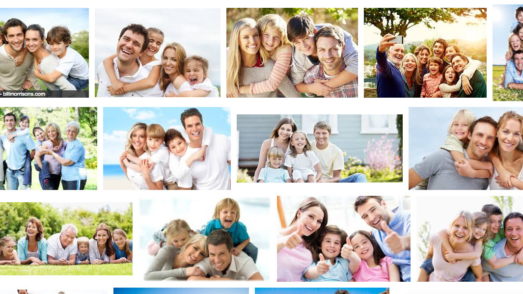 Why does Google think most happy families are white?