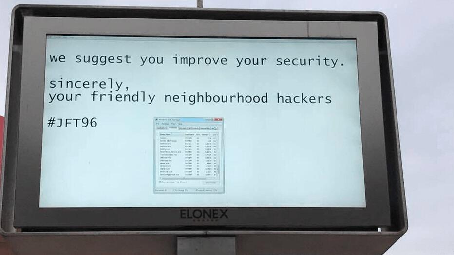 'Friendly neighborhood hackers' spoof digital billboard at local mall