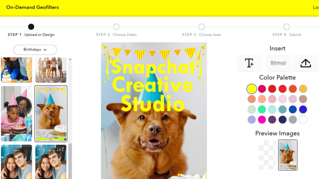 Snapchat expands design studio for custom geofilters