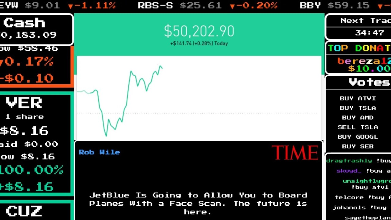 Twitch lets users play the stock market with someone else's money