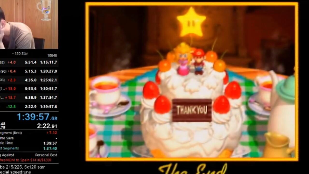 Speedrunner's Mario record smash earns him a hug from grandma