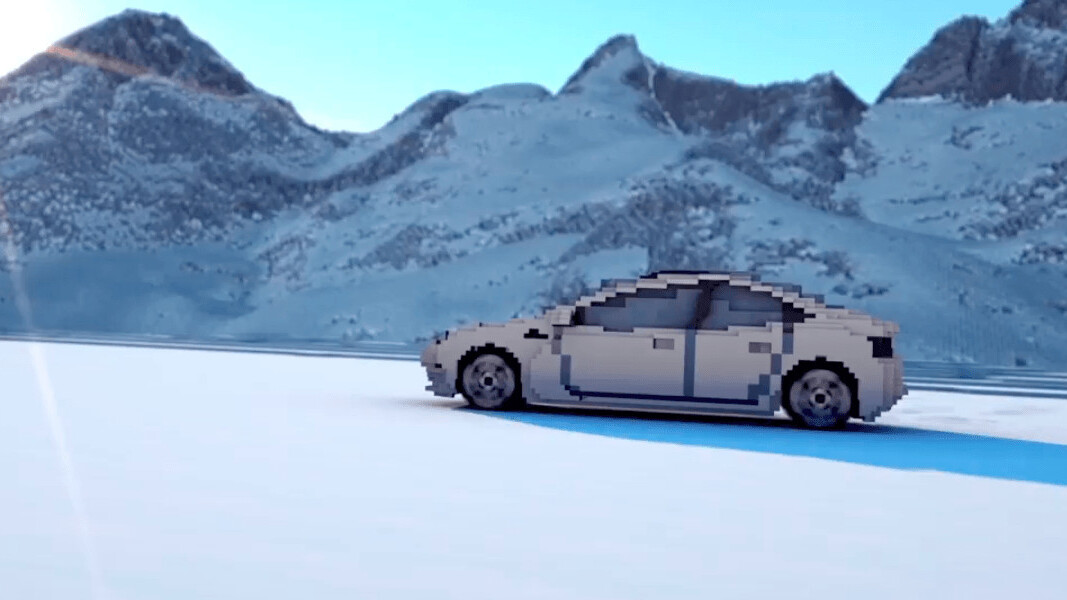 Watch the Tesla Model 3 cruise through Minecraft to promote sustainability