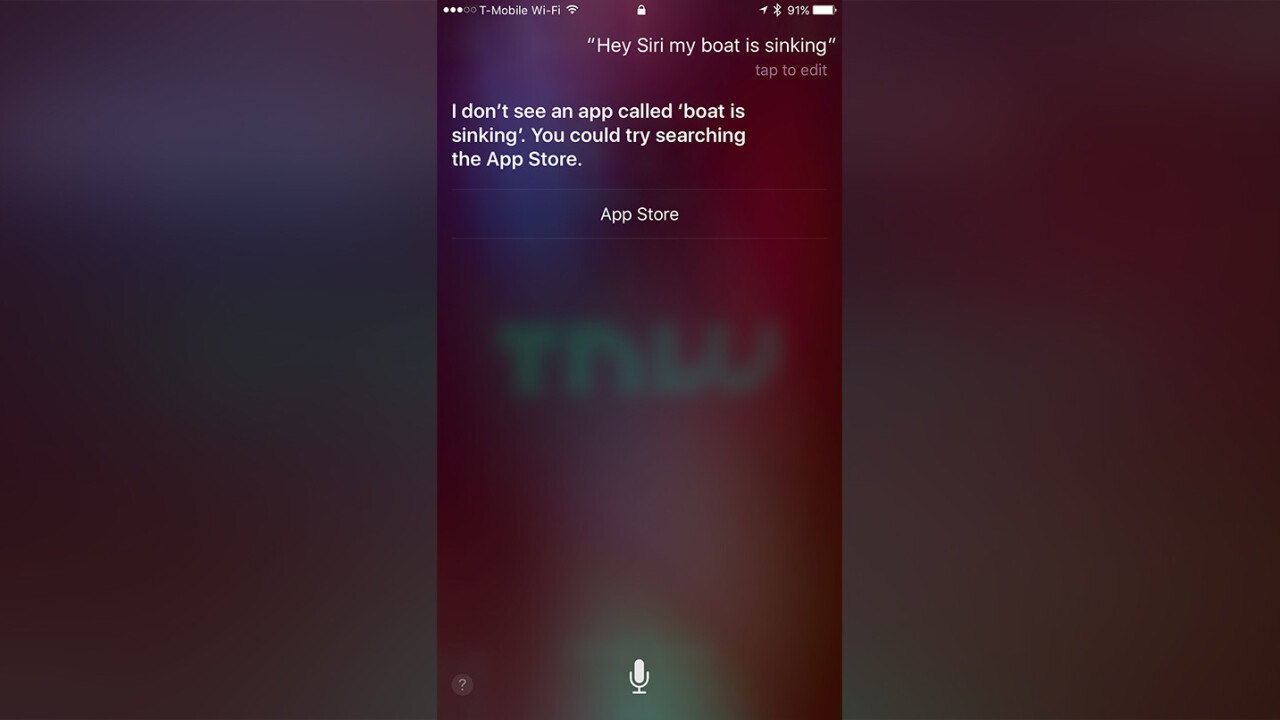 Siri credited with saving fishermen's lives after boat sinks
