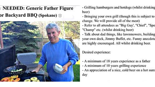 Craigslist ad for fake dads is the saddest thing we've seen today