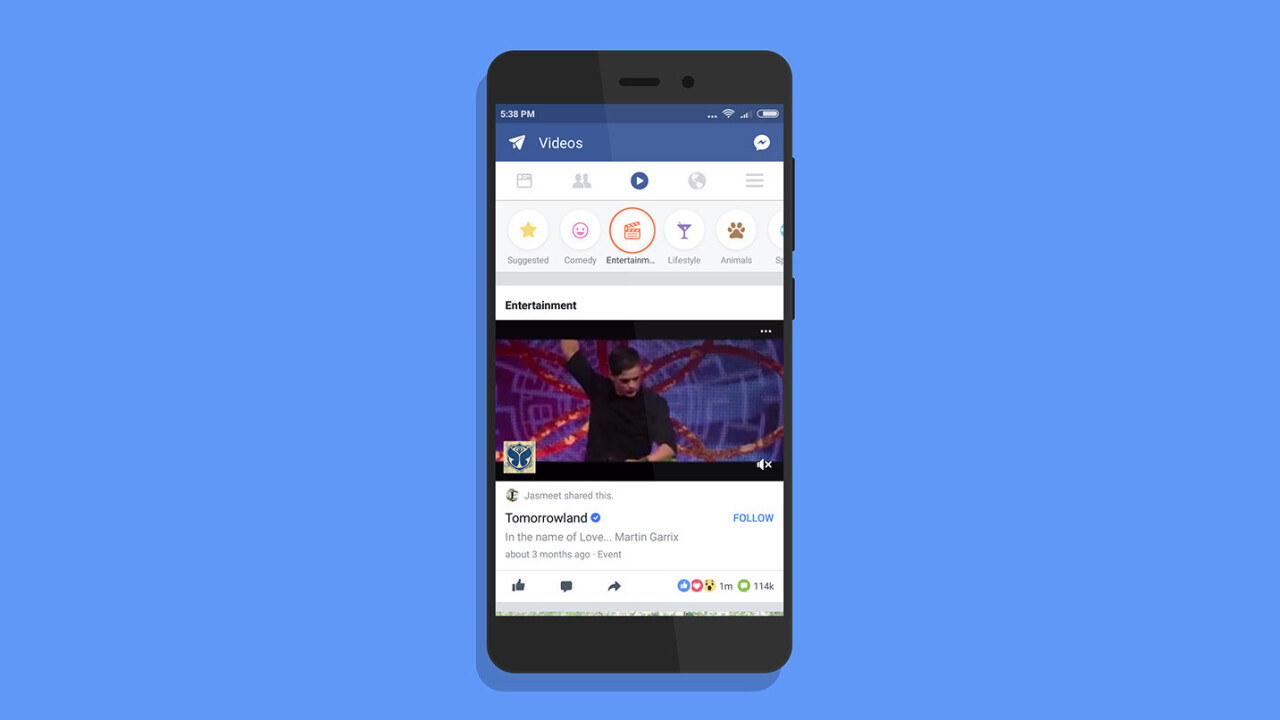 Facebook is testing a revamped Videos tab with suggested clips on Android