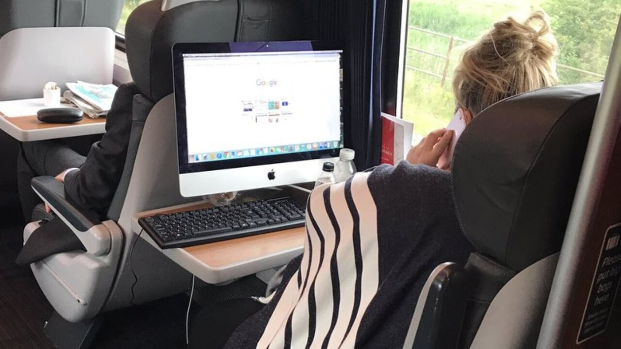 Working on an iMac from a train is a middle finger to portability