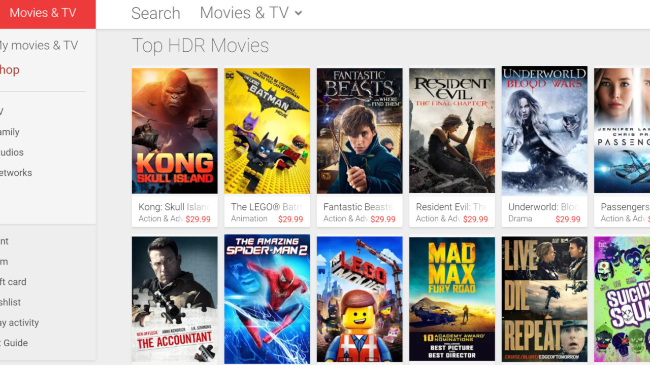 Google Play Movies adds HDR support