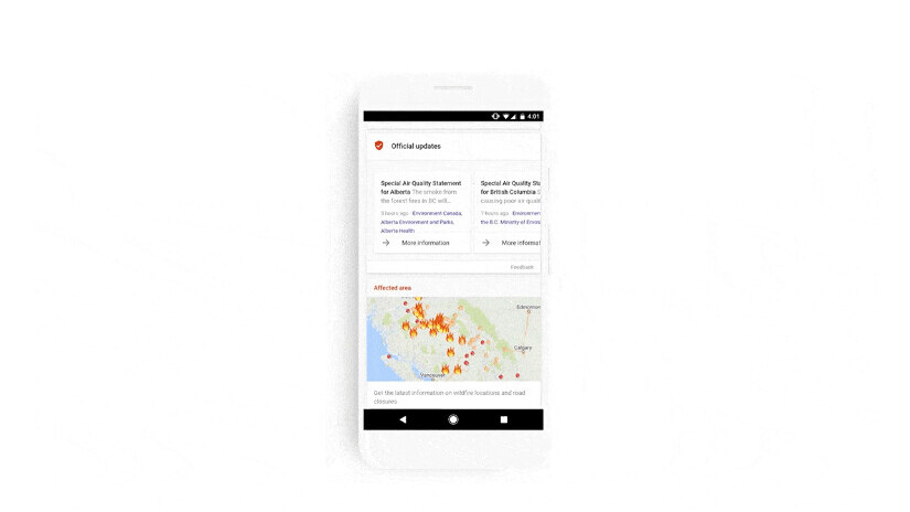 Google will keep people safe with real-time SOS Alerts in Search and Maps