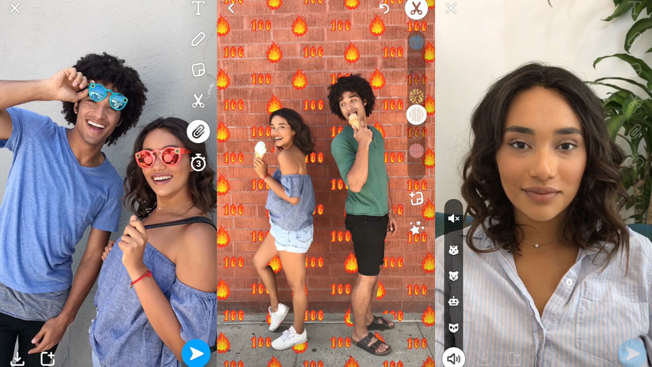Snapchat adds voice filters, backdrops, and web links to your snaps