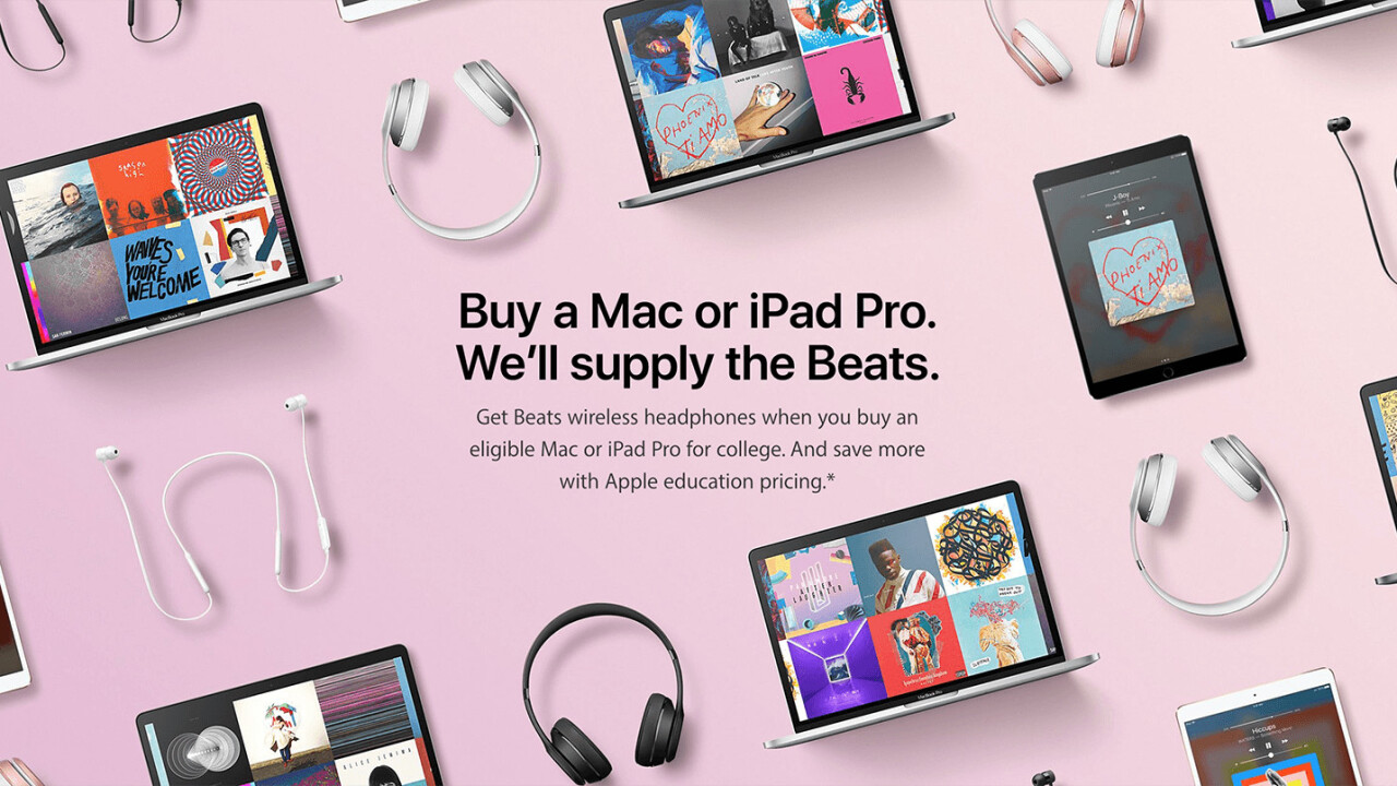 Apple's giving away free Beats headphones on Mac or iPad purchases (and not just for students)