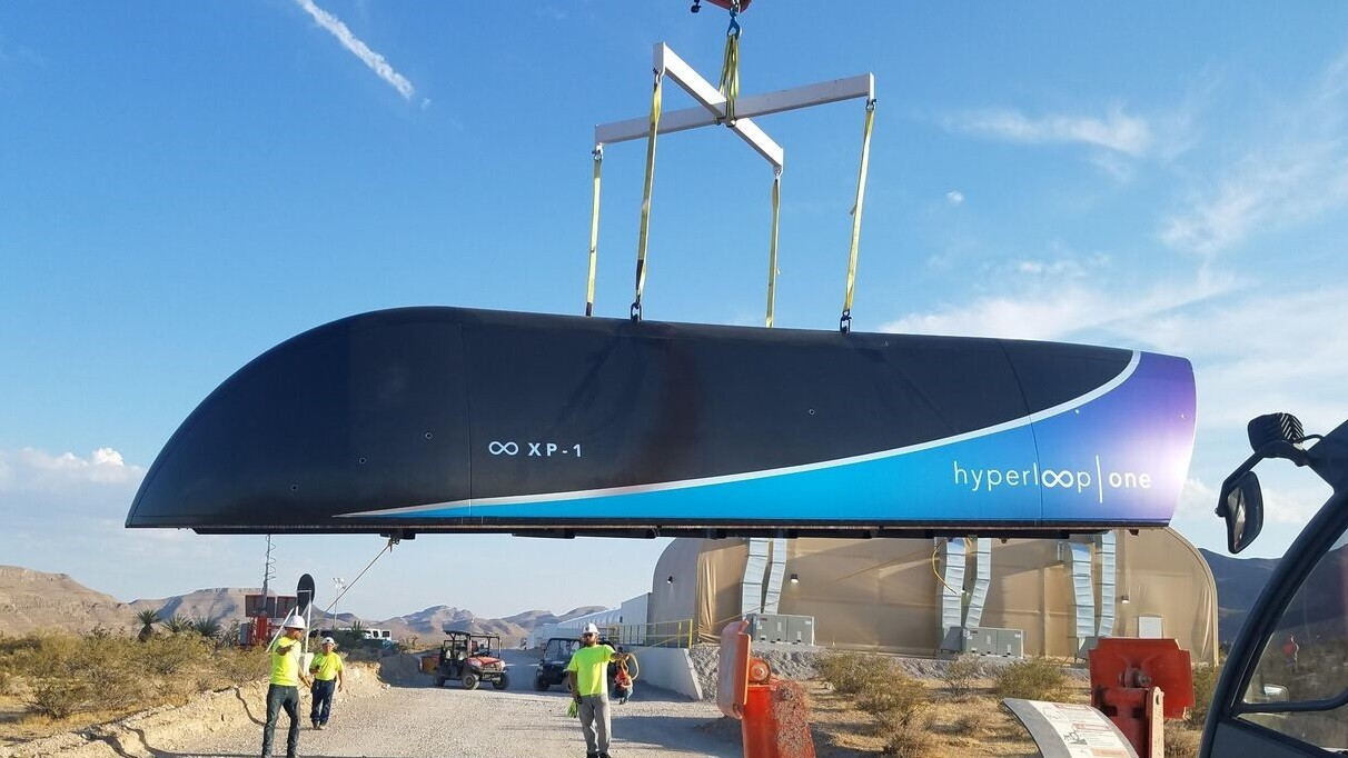 Hyperloop One just nailed its first full-scale test