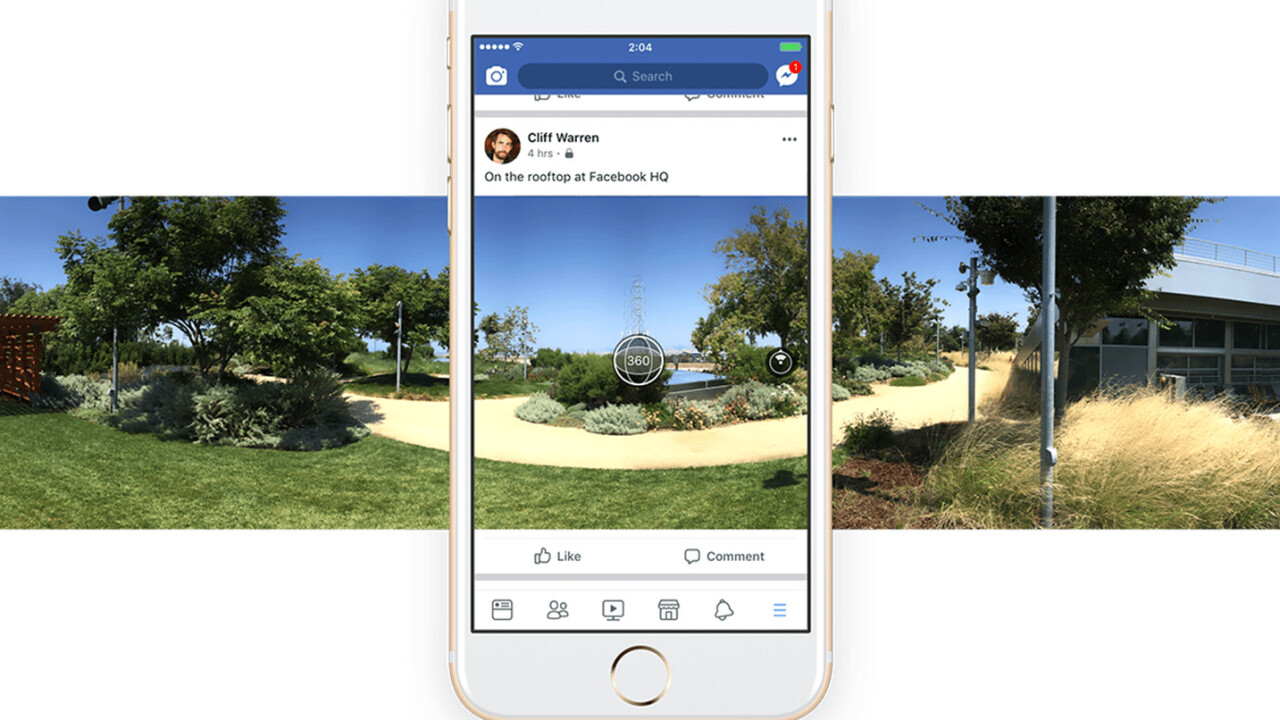 Facebook users can now take 360 photos from within the app