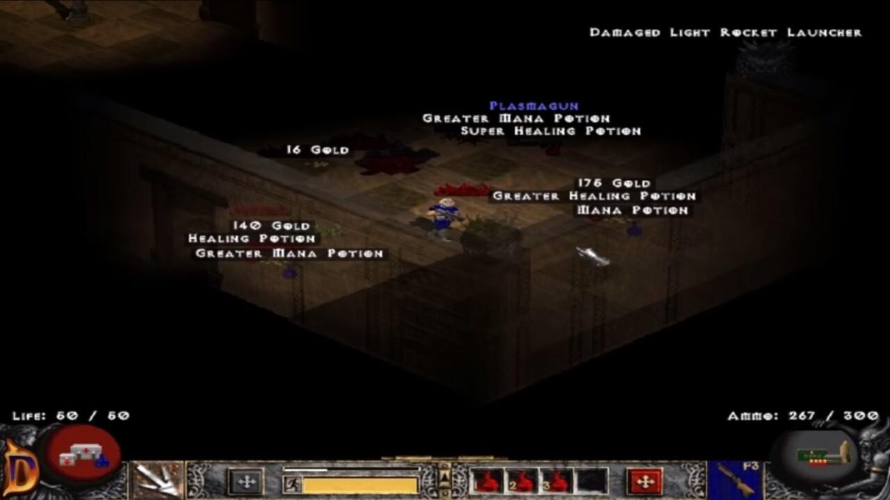 Doom 2 reimagined as Diablo 2 is trippy as hell