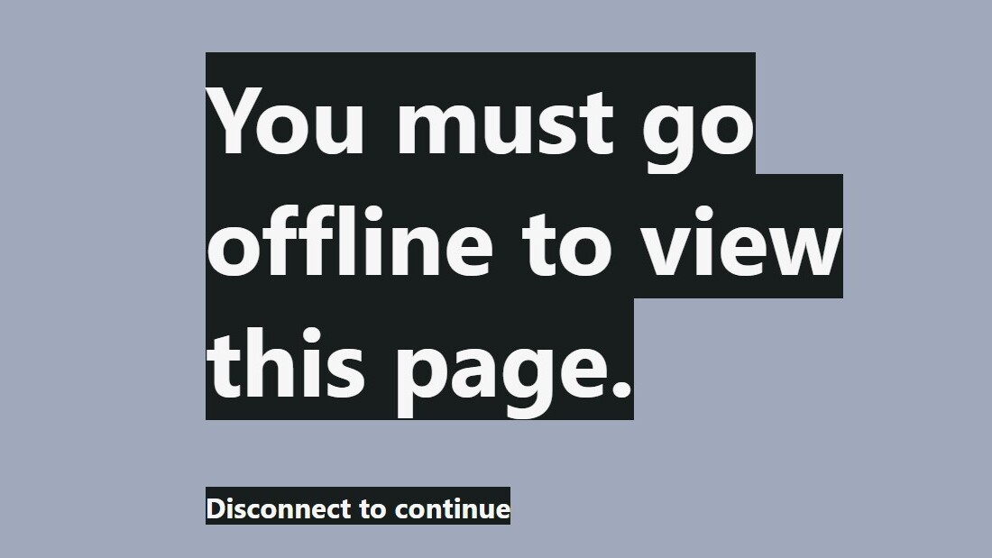 This manifesto against Internet addiction can only be viewed offline