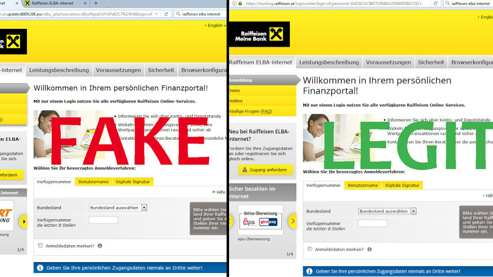 Raiffeisen Bank malware is phishing for your login credentials